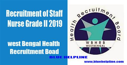 Recruitment of Staff Nurse Grade II 2019
